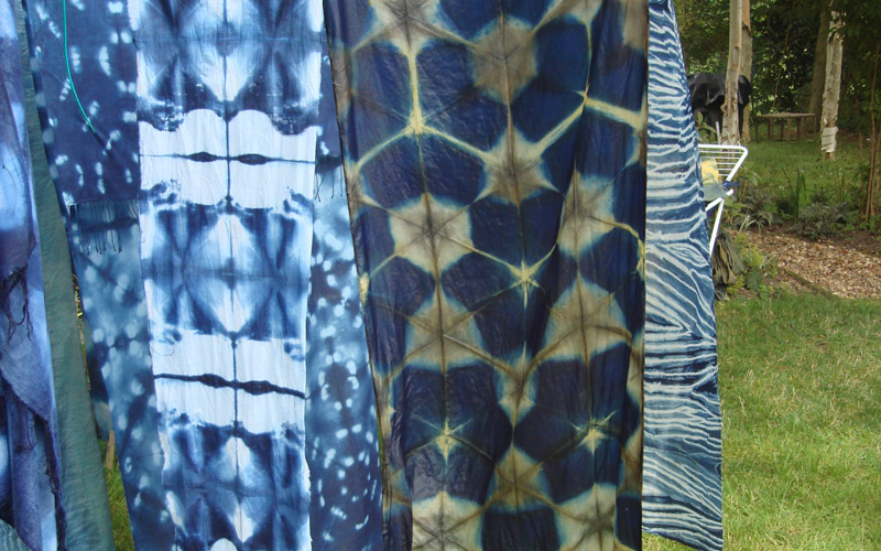 Shibori Workshop in Jane Callender's studio in Norfolk, UK