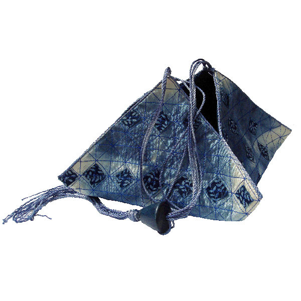 Shibori Pyramid Bag downloadable instructions by Jane Callender
