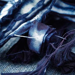Shibori threads & fabric
