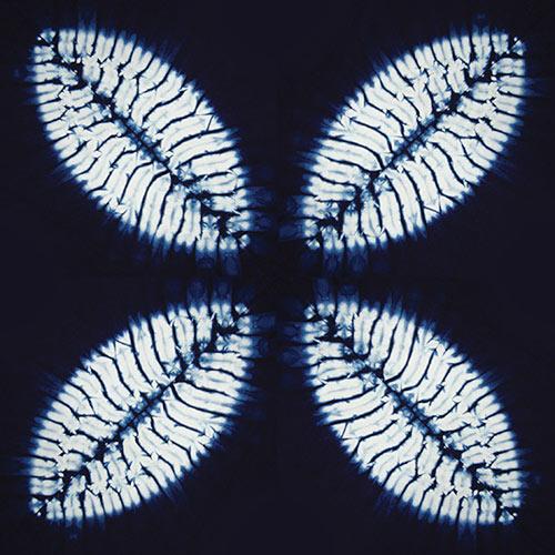 Stitched shibori stencils